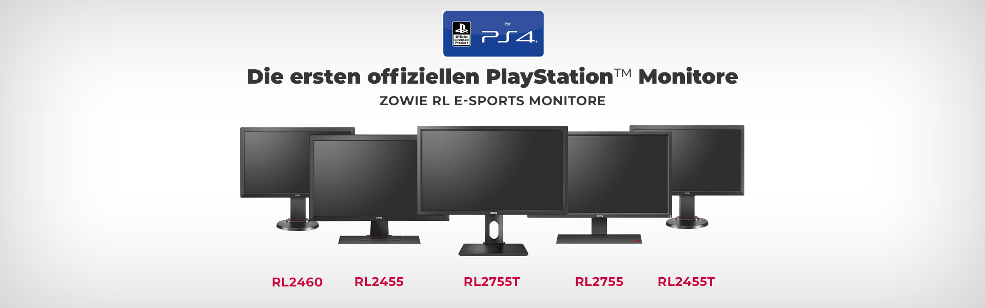 zowie rl series console esports monitor officially licensed by playstation ps4 sony